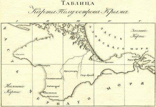 Военная топографическая карта полуострова Крым