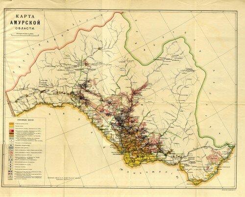 Карта Амурской области