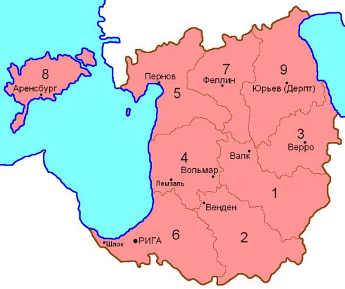 Уезды Лифляндской губернии