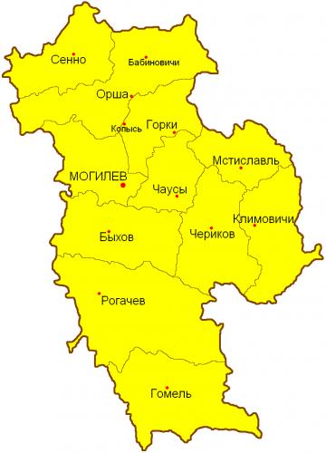 Уезды Могилевской губернии