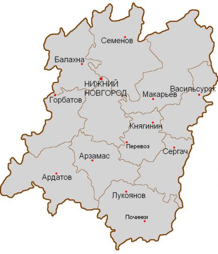 Уезды Нижегородской губернии