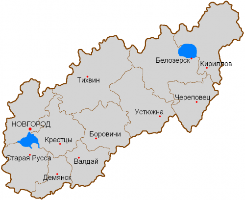 Уезды новгородской губернии