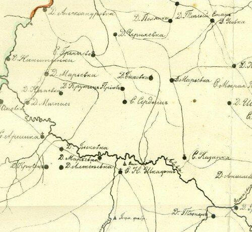 Образец карты Пензенской губернии