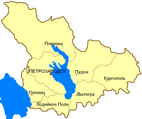 Уезды Олонецкой губернии