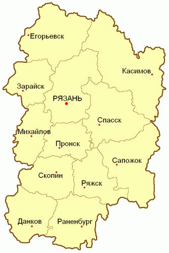 Уезды Рязанской губернии