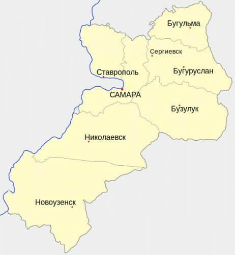 Уезды Самарской губернии