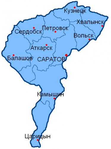Уезды Саратовской губернии