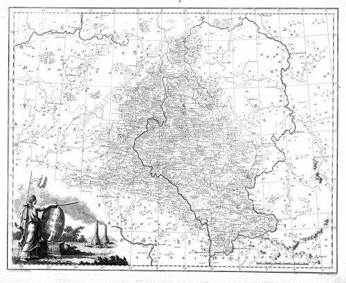 Старинная карта Вятской губернии