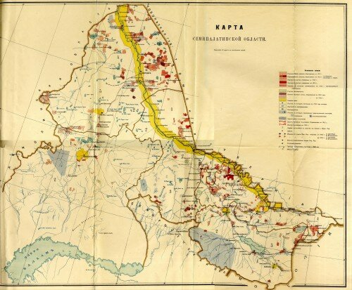 Карта Семипалатинской области