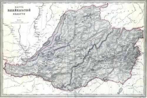 Старинная карта Забайкальской области