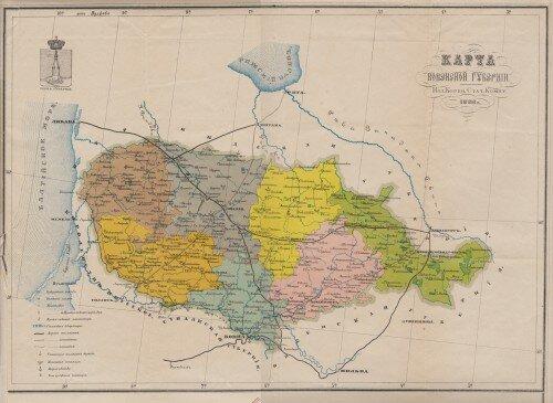Старинные карты Ковенской губернии