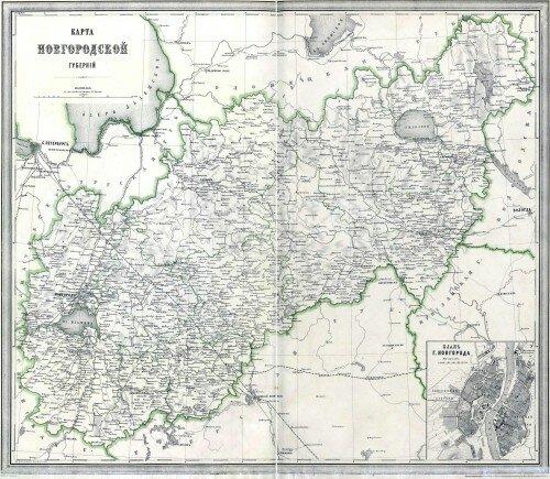 Старинные карты Новгородской губернии