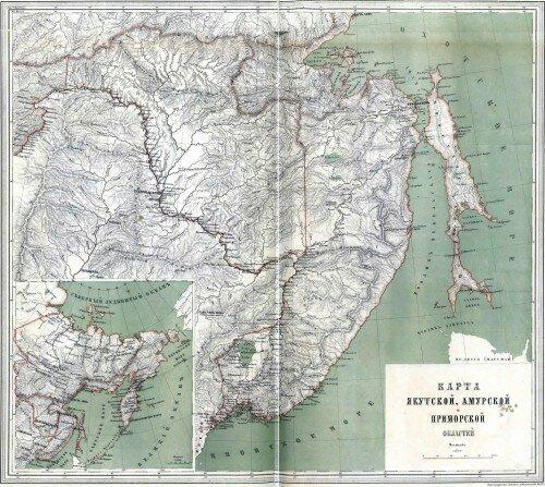 Старинные карты Приморской области