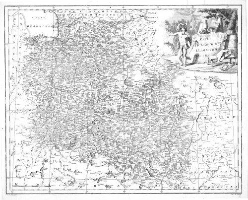 Старинные карты Псковской губернии