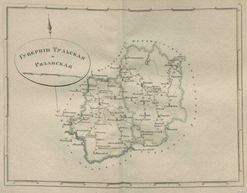 Старинные карты Рязанской губернии