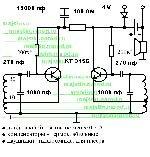 Схема металлоискателя Бабочка.