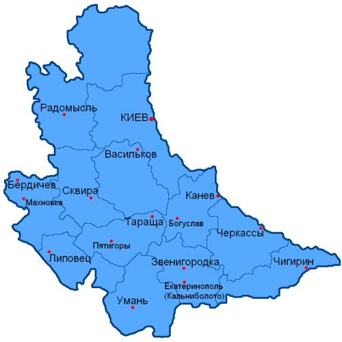 Уезды Киевской губернии