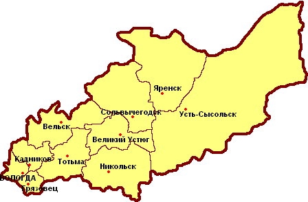 Уезды Вологодской губернии