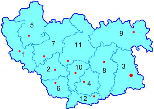 Уезды Волынской губернии