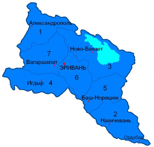 Уезды Эриванской губернии