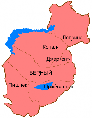 Уезды Семиречинской области