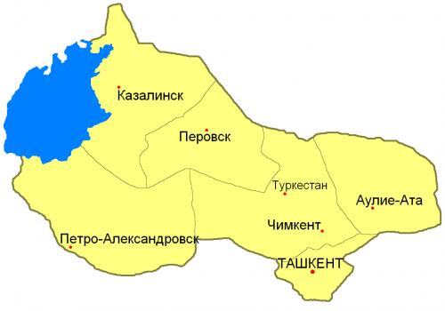 Уезды Сыр-Дарьинской области