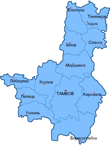Уезды Тамбовской губернии
