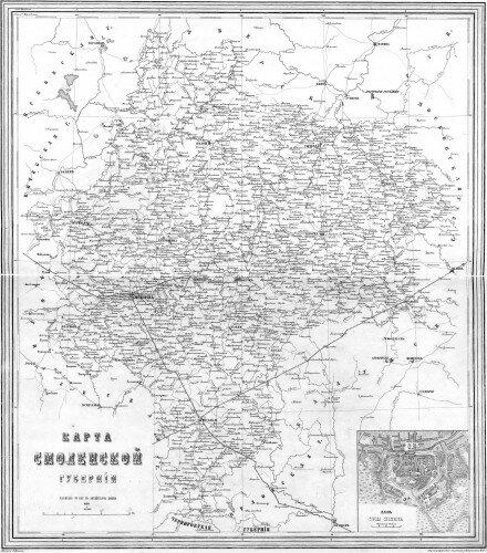 Старинные карты Смоленской губернии