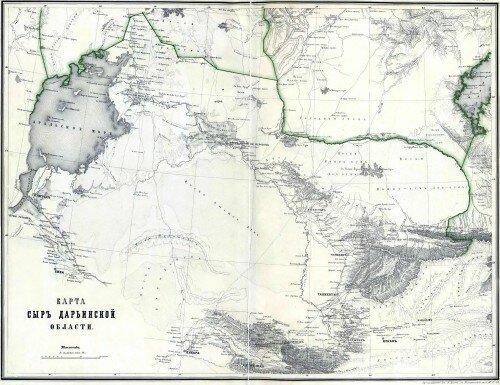 Старинные карты Сыр-Дарьинской области