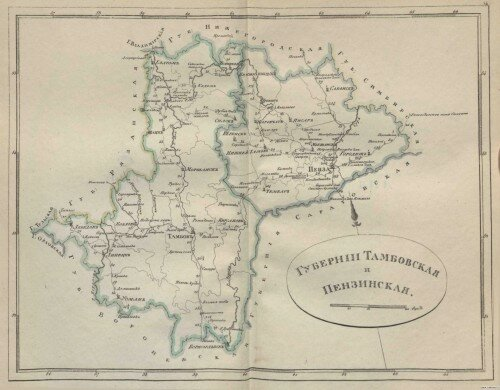 Старинные карты Тамбовской губернии