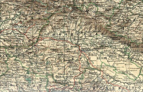 Старинные карты Тифлисской губернии