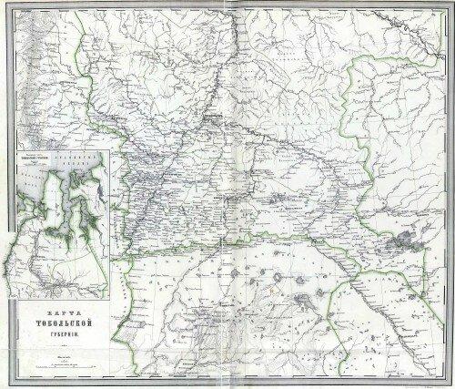 Старинные карты Тобольской губернии