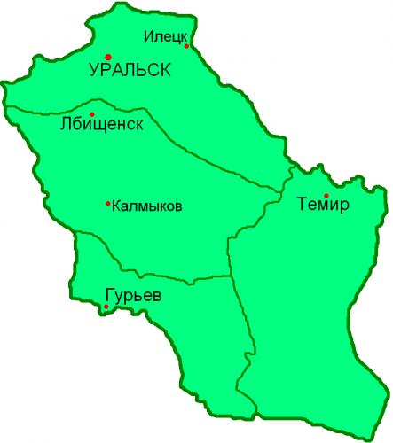 Уезды Уральской области